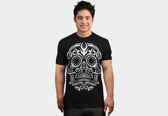 Day of the Dead Skull No3 T-Shirt - Design By Humans