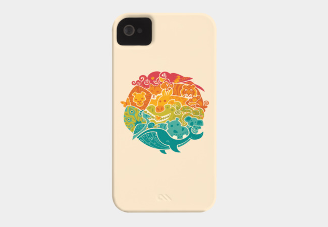 Animal Rainbow Phone Case - Design By Humans