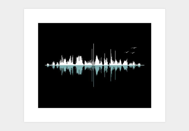 Music City (Clear Graphic) Art Print - Design By Humans