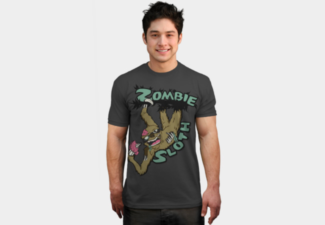 Zombie Sloth T-Shirt - Design By Humans