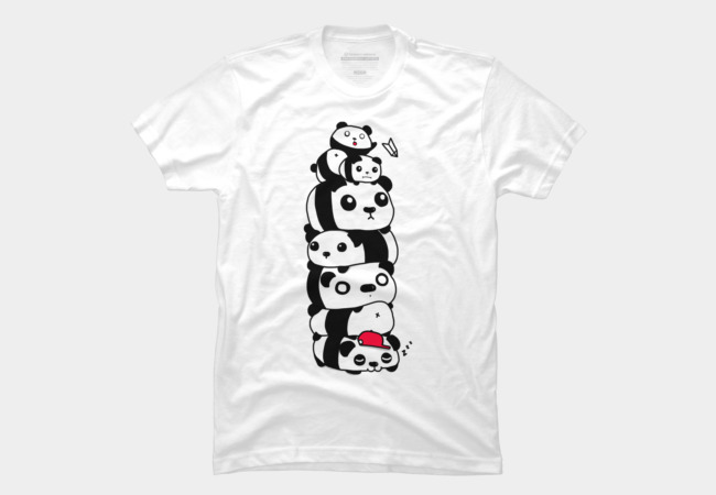 Stack of Pandas Men's T-Shirt