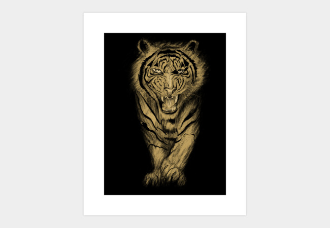 Tiger roar Art Print - Design By Humans