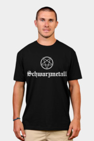 Schwarzmetall - German for Black Metal (white)