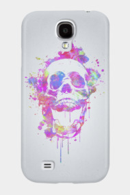 Cool & Trendy Pink Watercolor Skull