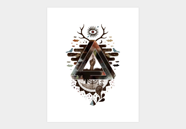 All Impossible Eye Art Print - Design By Humans