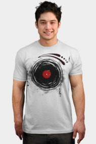 Vinyl Records Retro Grunge DJ Art