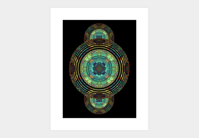 Rippled Mandala Art Print - Design By Humans