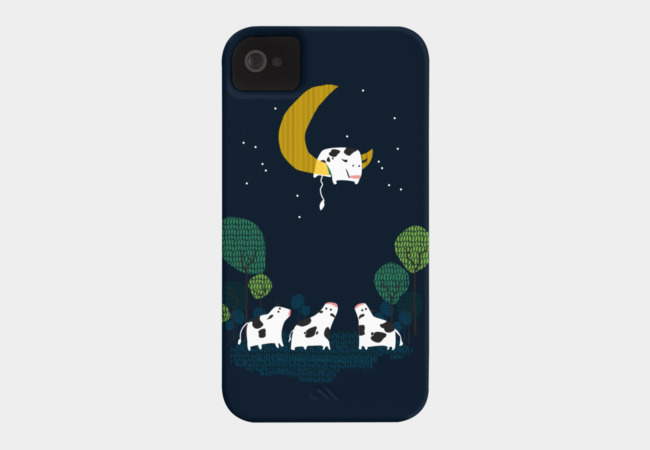 A cow jump over the moon Phone Case - Design By Humans