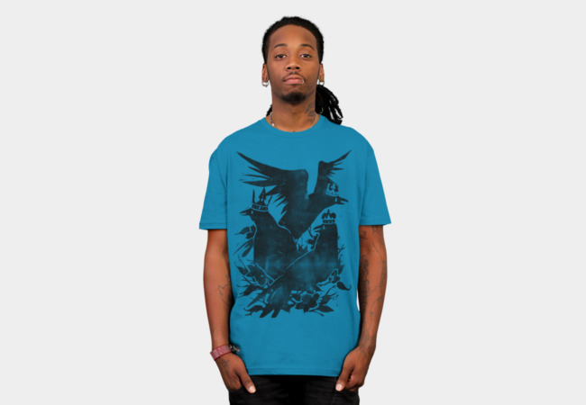Crowned Crow T-Shirt - Design By Humans