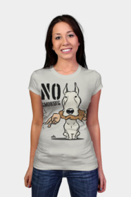 No smoking cartoon dog