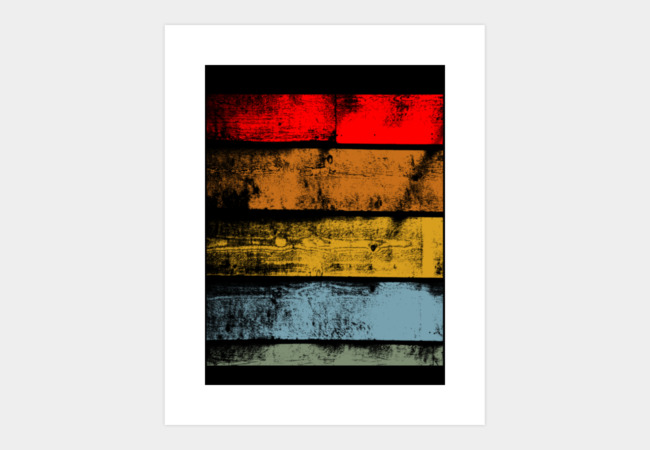 Retro Wood Art Print - Design By Humans