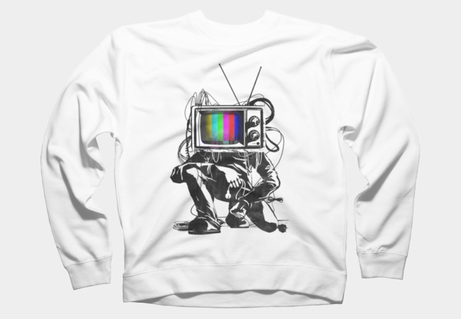 Retro TV Colour Test Man Sweatshirt